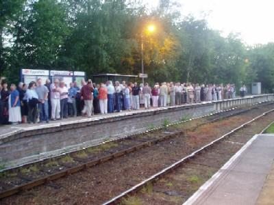 Eggesford Station Platform - waiting for the Jazz Train